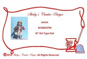 50 Jacket Pattern Envelope WITH CORRECT COPYRIGHT