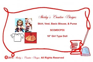 56 Skirt, Vest, Basic Blouse, & Purse ENVELOPE WITH CORRECT COPYRIGHT - Copy