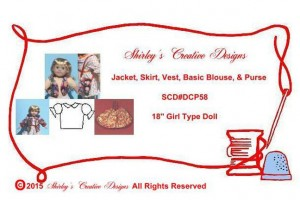 58 Jacket, Skirt, Vest, Basic Blouse, & Purse ENVELOPE WITH CORRECT COPYRIGHT - Copy