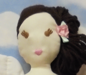 Angel Ballerina embroidered face